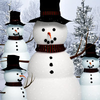 Free Holiday Snowman Graphics