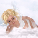 celestrial angel cherub web template