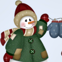 Country snowman winter Christmas Ebay Auction template
