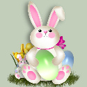 Free Easter Bunny web template