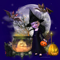 Halloween witch web template