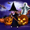 Halloween Anime Witch web template