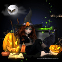 Halloween witch Ebay Auction template