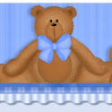 Blue Teddy Bear Ebay Auction Listing Template