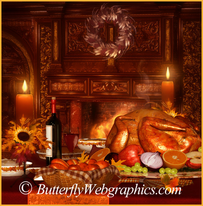 Bountiful Harvest Thanksgiving Graphics