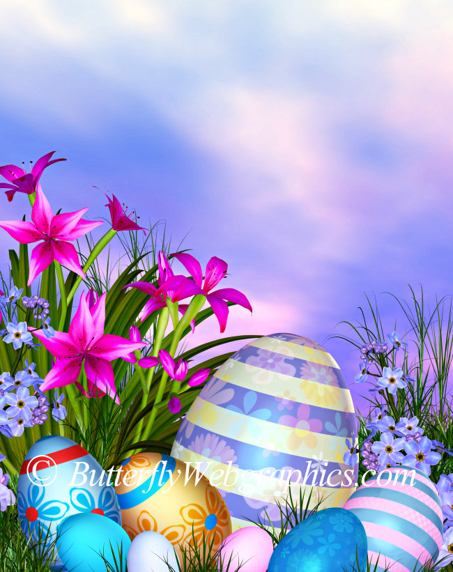 Happy Easter Backgrounds and Easter tubes