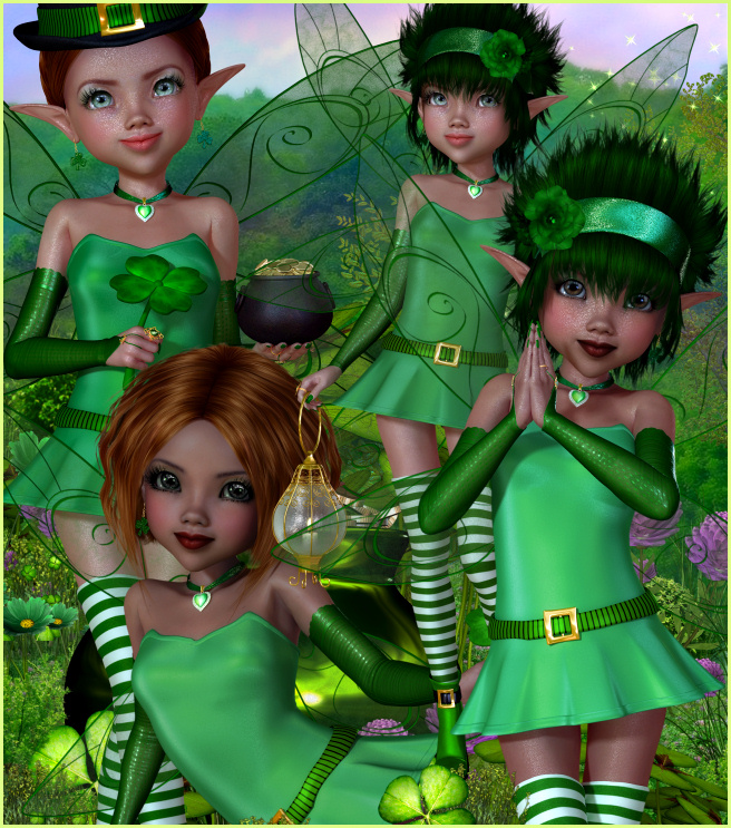 Little Irish Fairy Graphics