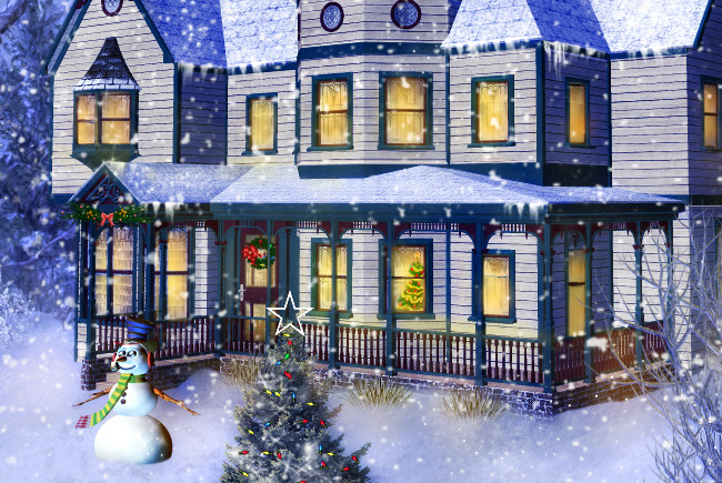 Christmas House Graphics
