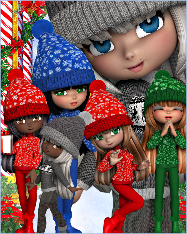 Cookie Winter Holiday Graphics