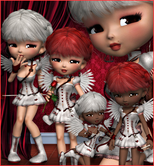 Cute Cupid Graphics for Valentine's Day