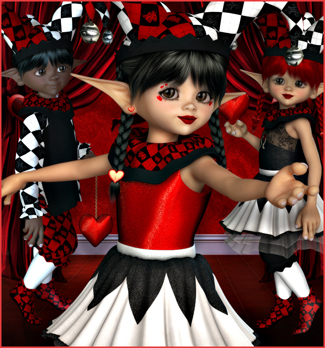 Little King and Queen of Hearts Graphics