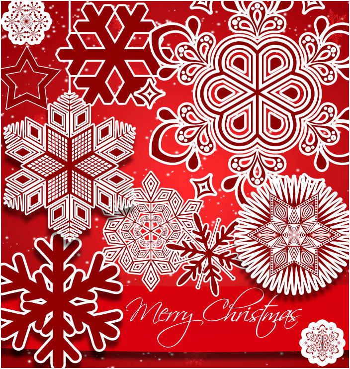 Red Christmas Snowflake Graphics