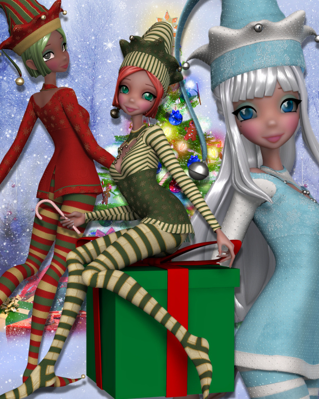 Star Christmas Elf Graphics