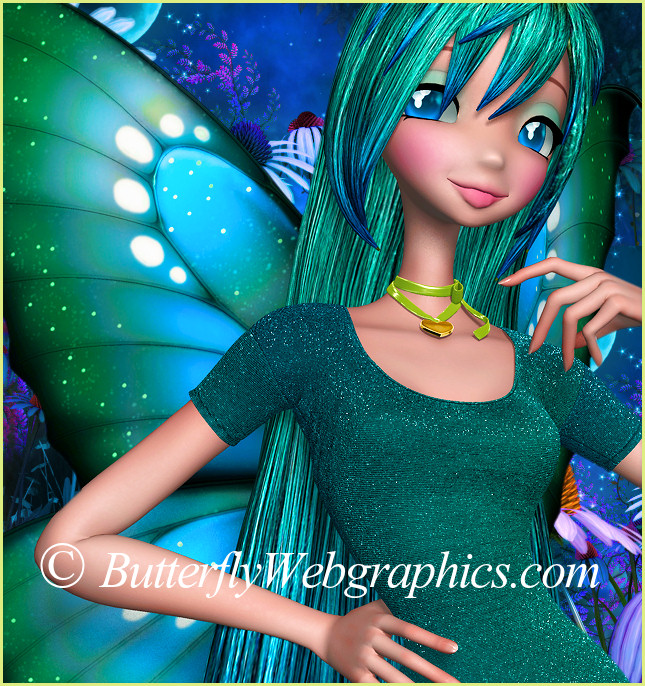 Star Pretty Peacock Fairy Graphics