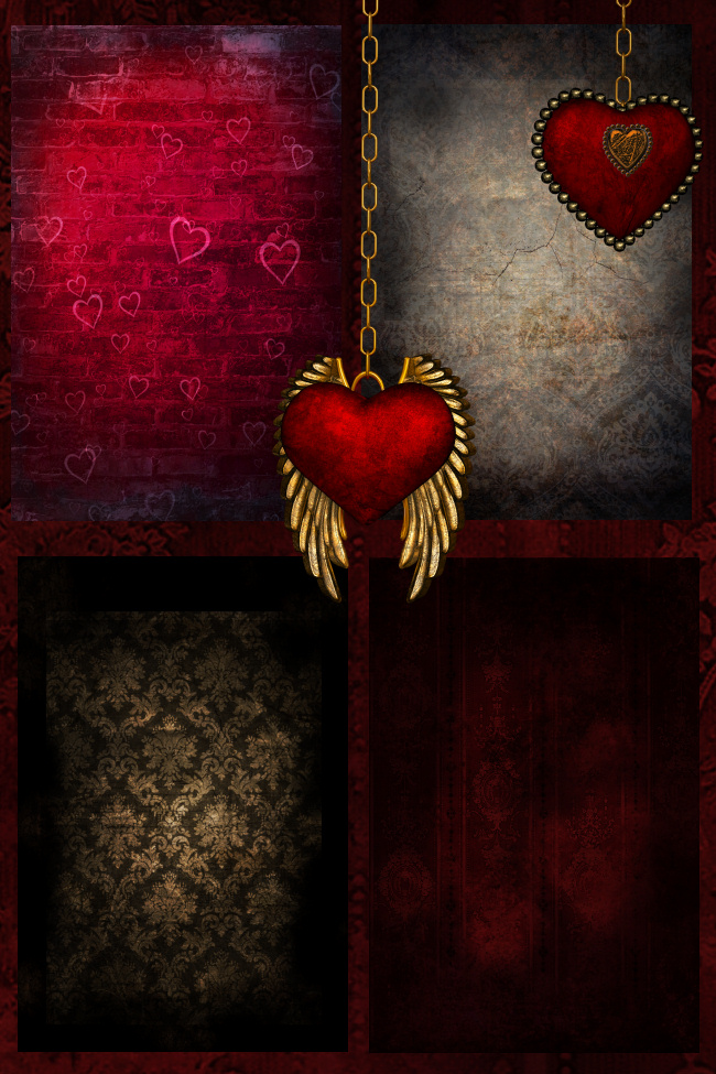 Steampunk Love Background Graphics
