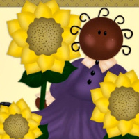 Country Sunflower Art Kit for your designs