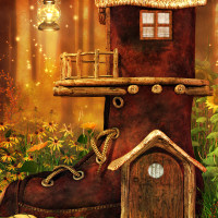 A fantasy boothouse Background package for the fall