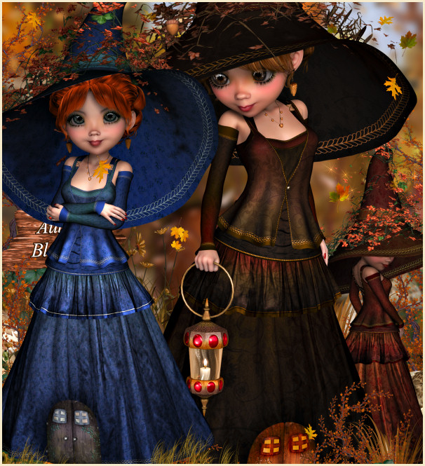 Autumn Wood Witch clip art images