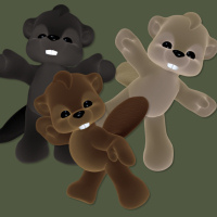 butterflywebgraphics.com cute plush beaver toy psp tubes for your fantasy designs