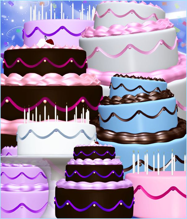 Birthday Cake Graphics 2