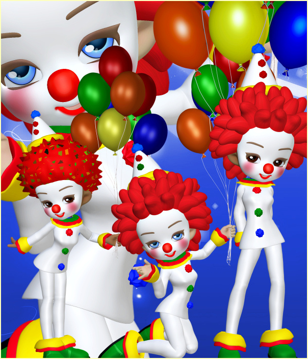 Birthday Clown Tubes