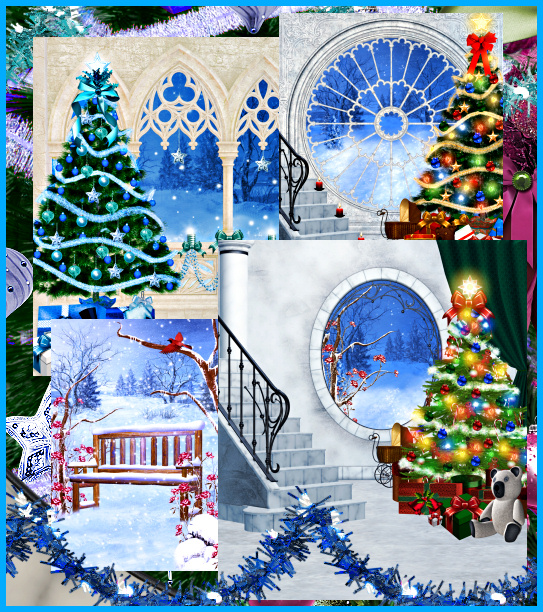 Blue Christmas Graphics