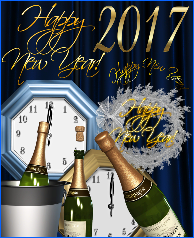 Bright New Year Background Graphics
