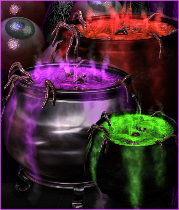 Bubbling Brew Cauldron Graphics