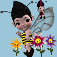 butterflywebgraphics.com bumble bee fairy tubes for your fantasy designs