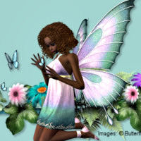 Spring Butterfly Fairy tubes