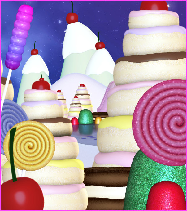 Candy Land background graphics