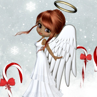 butterflywebgraphics.com Christmas Angel psp tubes for your fantasy designs
