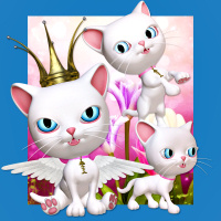 butterflywebgraphics.com cute kitty angel tubes for your fantasy designs
