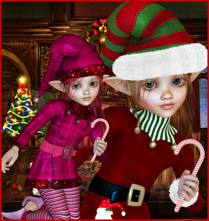 Cute Christmas Elf Graphics