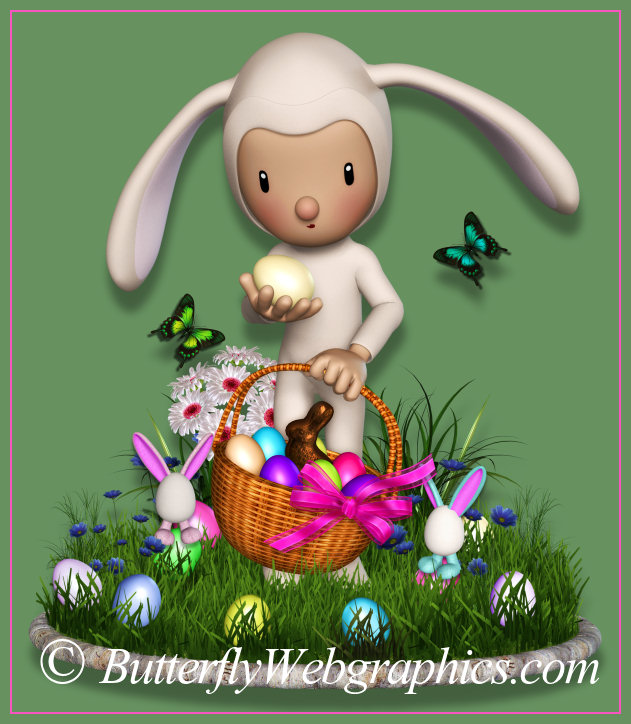Cutest Bunny Graphics for Easter and Spring.