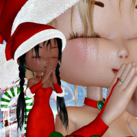butterflywebgraphics.com Fairy of the month December Christmas Fairy tubes