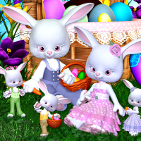 Rabbit Family Clipart