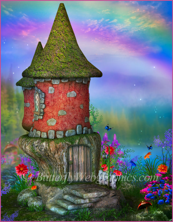 Fairy Castle Background Graphics