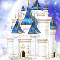 Fairytale castle tubes and background package