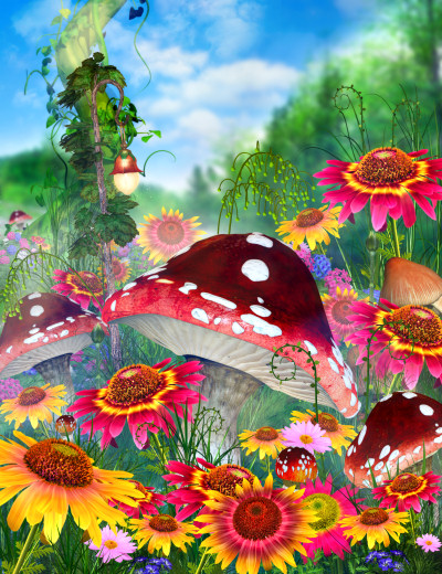Fairy Meadow Backgrounds
