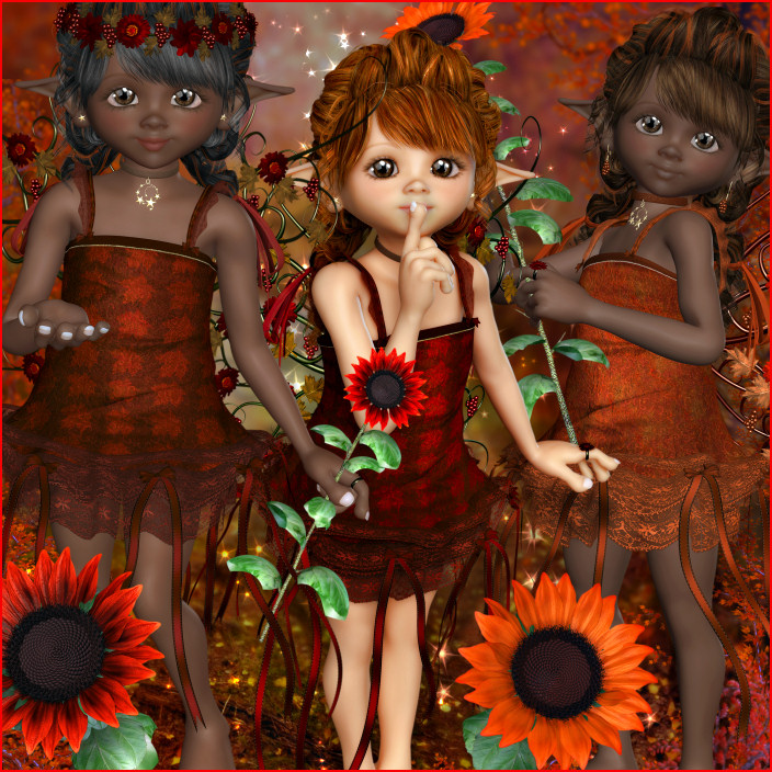 Adorable Fall Fairy graphics