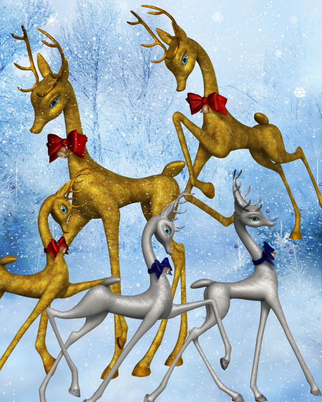 Fancy Reindeer Graphics