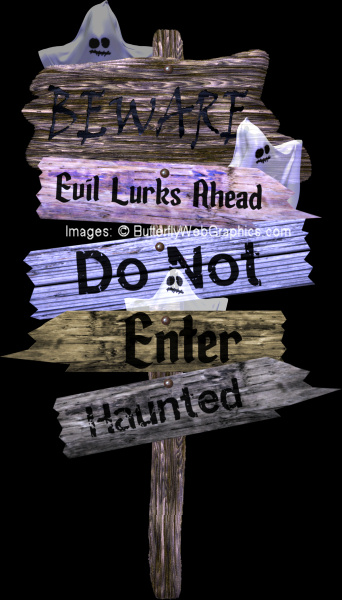 Spooky Sign Graphics Kit