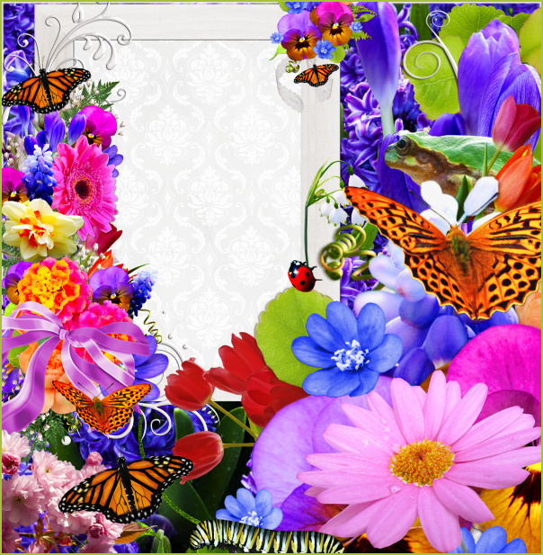 Spring Flower Garden Graphics Butterflywebgraphics
