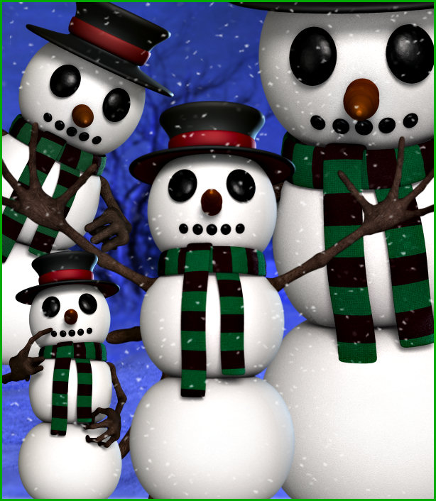 Frosty Snowman Graphics with transparent backgrounds
