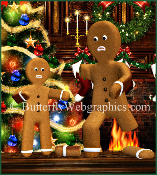 Gingerbread Men Tubes