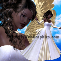 butterflywebgraphics.com Golden Angel psp tubes