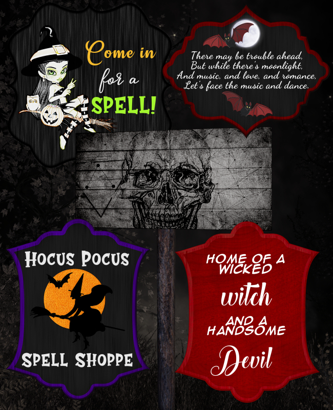 Halloween sign tubes in the PNG format
