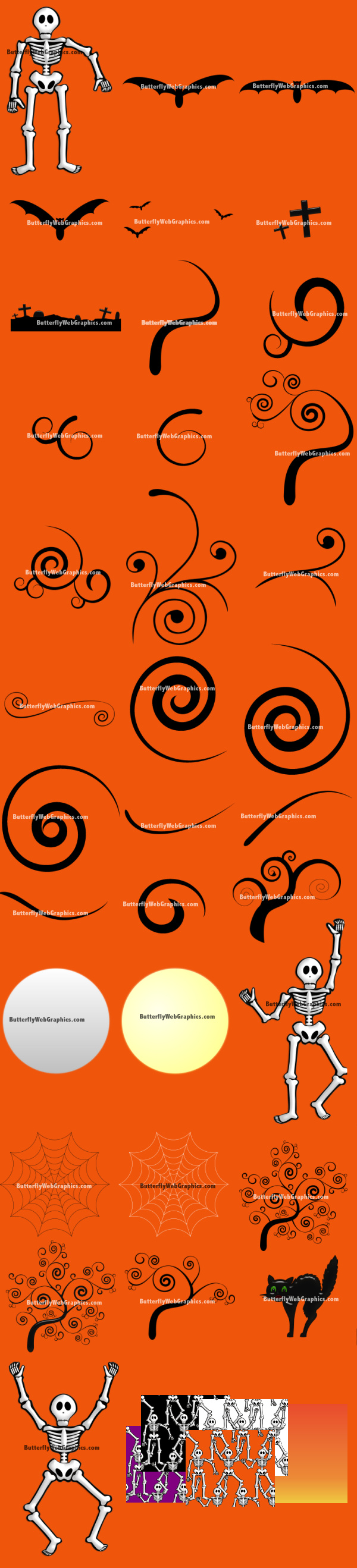Halloween Swirl Graphics