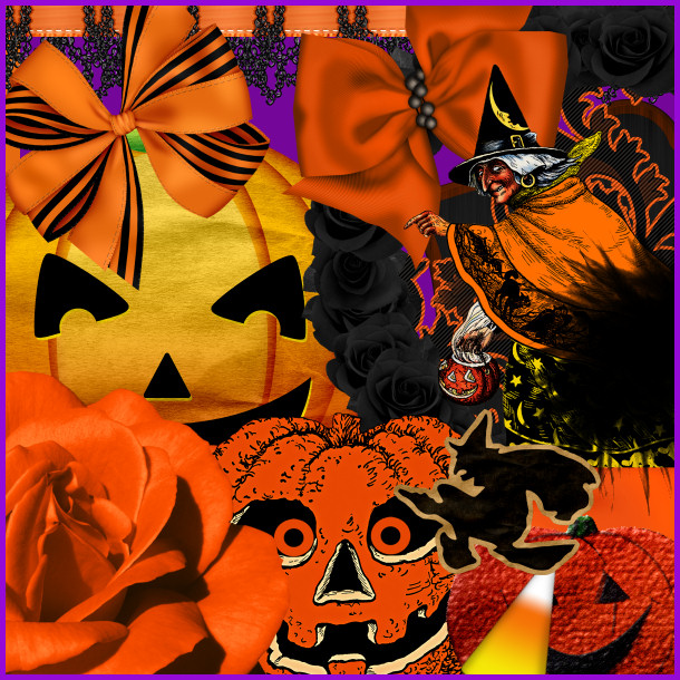 Halloween Scrap Kit Two, Halloween holiday graphics for digital and print scrapbooks.